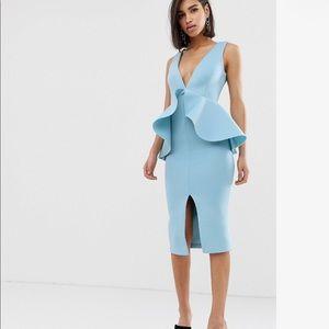 ASOS Lavish Alice Dusty Blue Dress